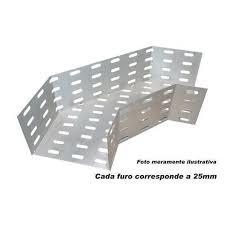 ACESSÓRIO P/ELETROCALHA  CURVA HORIZONTAL 90 100X 50