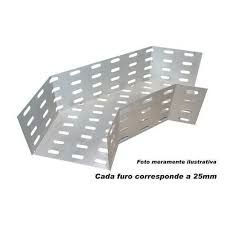 ACESSÓRIO P/ELETROCALHA  CURVA HORIZONTAL 90 200X 50