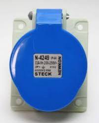 TOMADA EMBUTIR STECK  STECK 3P+T 9H 32A 200/250V AZ N-4249