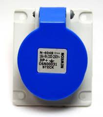 TOMADA EMBUTIR STECK  STECK 3P+T 9H 16A 200/250V AZ N-4049